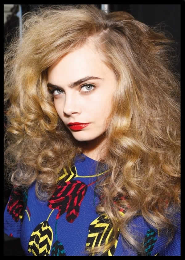 Cara Delevingne's Big Hair; Caution: Not the result of a Natural Frizz