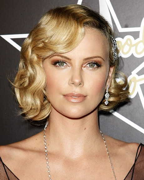 Charlize Theron Bob Flapper Hairstyle Prom Hairstyles 2014