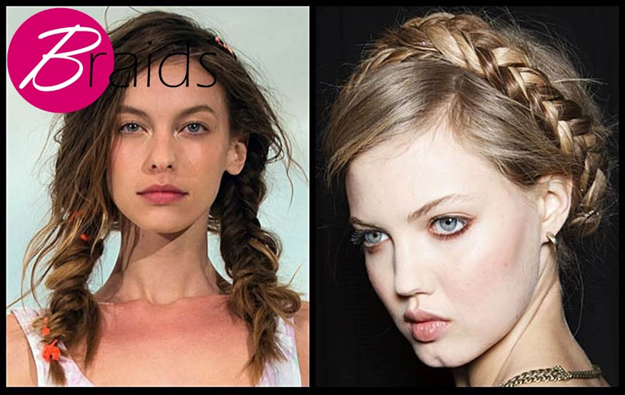 Gorgeous braids hairstyle for spring 2014