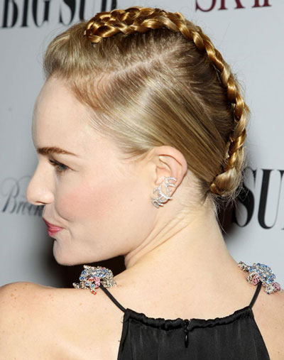 Kate Bosworth Braided Faux Mohawk Hairstyle Updo Careforhair