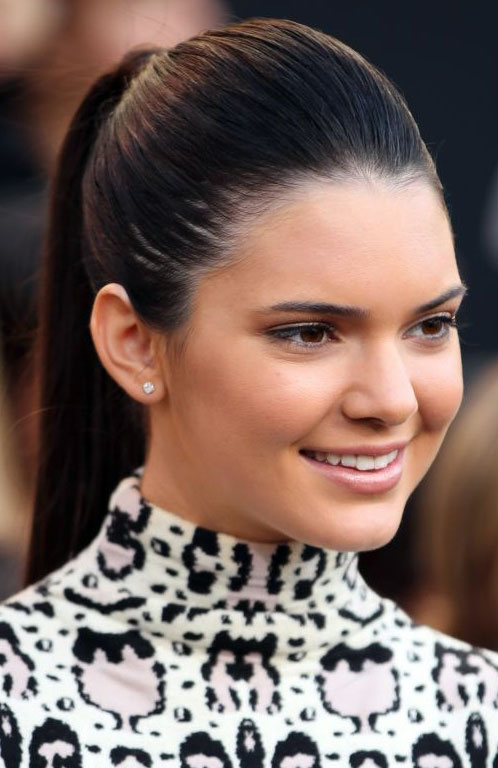 Kendall Jenner High Sleek Ponytail Prom Hairstyles 2014