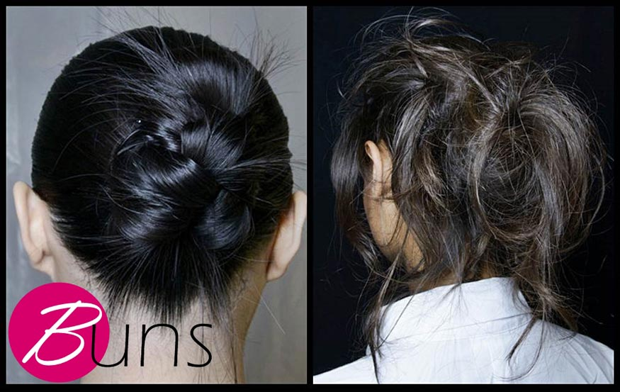 Trendy buns hairstyle for spring 2014
