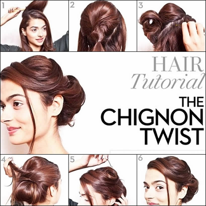 Twist Chignon Formal Hairstyle Tutorial