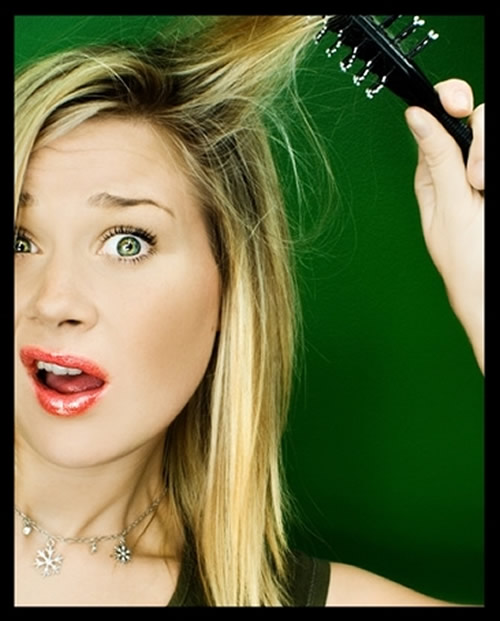 Static hair is caused by a combination of cold air and lack of humidity