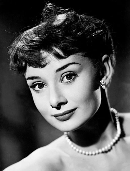 Audrey Hepburn's  super short crop hairstyle