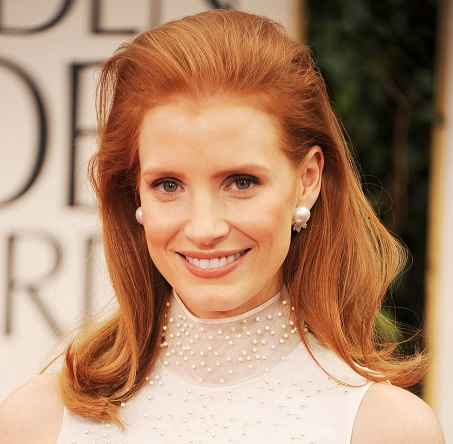 Jessica Chastain Red Bouffant hair