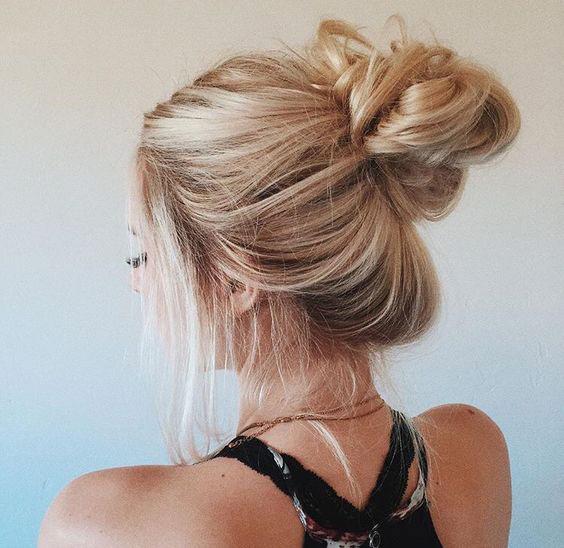 Sleep with your hair in a bun