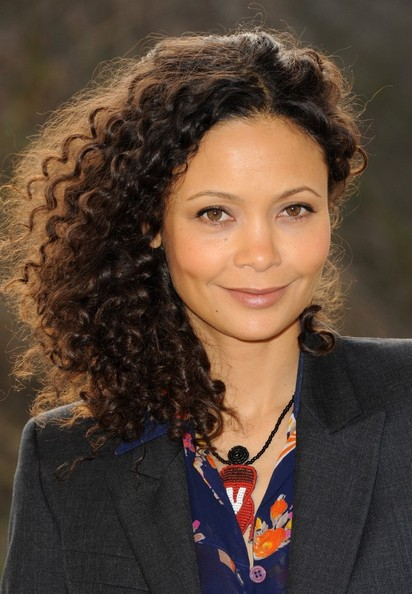 Thandie Newton's sweet & thick voluminous hairstyle