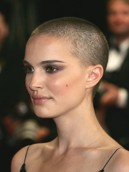 Natalie Portman's Buzz Cut Haristyle from V for Vendetta
